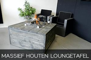Massief houten loungetafel