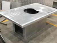 Aluminium Terrastafel op maat gemaakt